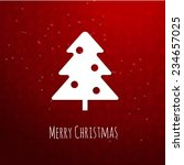 christmas tree on red background | Shutterstock .eps vector #234657025