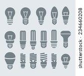 light bulbs. bulb icon set | Shutterstock .eps vector #234660208