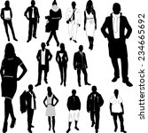 fashion women and men vector | Shutterstock .eps vector #234665692