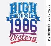 sport victory college... | Shutterstock .eps vector #234674878