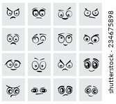 vector black cartoon eyes icon... | Shutterstock .eps vector #234675898