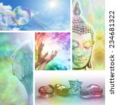 holistic healing collage   ... | Shutterstock . vector #234681322