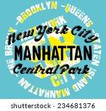 new york city vector art | Shutterstock .eps vector #234681376