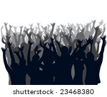 cheering crowd | Shutterstock .eps vector #23468380
