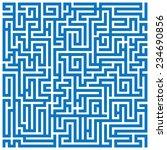 maze labyrinth | Shutterstock .eps vector #234690856