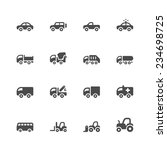 car icons  | Shutterstock .eps vector #234698725