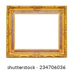 golden frame isolated on white... | Shutterstock . vector #234706036