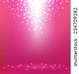 Abstract Magic Light On Pink...