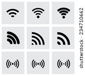 vector wireless icon set on... | Shutterstock .eps vector #234710662