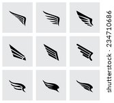 vector wing icon set on grey... | Shutterstock .eps vector #234710686