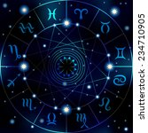 circle with signs of zodiac on...   Shutterstock .eps vector #234710905