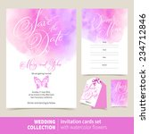 vector set of invitation cards... | Shutterstock .eps vector #234712846