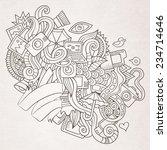 photography doodles elements... | Shutterstock .eps vector #234714646