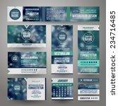 vector corporate identity... | Shutterstock .eps vector #234716485