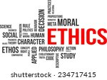 a word cloud of ethics related... | Shutterstock .eps vector #234717415
