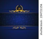 elegant golden frame banner... | Shutterstock .eps vector #234721156