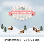 christmas card | Shutterstock .eps vector #234721186