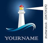 vector sign lighthouse | Shutterstock .eps vector #234724192
