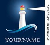 vector sign lighthouse | Shutterstock .eps vector #234724192