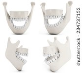 3d human jaw bone opened with...   Shutterstock . vector #234737152