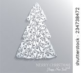 creative white christmas tree.... | Shutterstock .eps vector #234738472