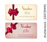 collection of voucher gift... | Shutterstock .eps vector #234739492