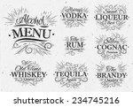 Set Alcohol Menu Beverages...