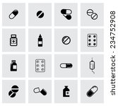 vector black pills icon set on... | Shutterstock .eps vector #234752908