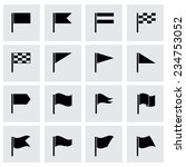 vector black flags icon set on... | Shutterstock .eps vector #234753052