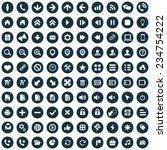 100 ui icons for web and mobile ... | Shutterstock . vector #234754222