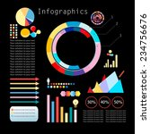 set of infographics elements on ... | Shutterstock .eps vector #234756676