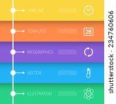 illustration of web infographic ... | Shutterstock .eps vector #234760606