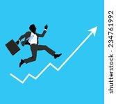 financial success  running man... | Shutterstock .eps vector #234761992