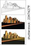 abstract modern city | Shutterstock .eps vector #23476279
