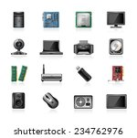 computer part icons | Shutterstock .eps vector #234762976