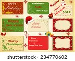 set of christmas vintage... | Shutterstock . vector #234770602
