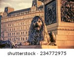 Trafalgar Square In London...