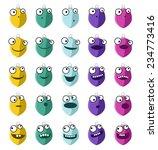 christmas balls vector smileys   Shutterstock .eps vector #234773416