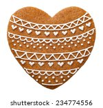 heart gingerbread cookie for... | Shutterstock . vector #234774556