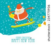 cartoon christmas card  with... | Shutterstock .eps vector #234775936