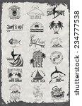 surfer vector set.vintage surf...   Shutterstock .eps vector #234777538