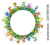 confetti and serpentine round... | Shutterstock . vector #234784738