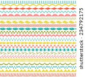 sewing stitch borders | Shutterstock .eps vector #234792175
