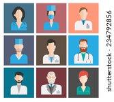 avatar medical icons. female... | Shutterstock .eps vector #234792856