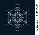 geometric element  line design  ... | Shutterstock .eps vector #234795625
