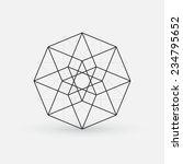 geometric element  line design  ... | Shutterstock .eps vector #234795652
