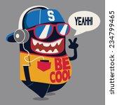 cool monster graphic | Shutterstock .eps vector #234799465