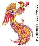 the phoenix fire bird. colorful ... | Shutterstock .eps vector #234799786