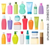 set of color cosmetic bottles ... | Shutterstock .eps vector #234803758