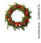 christmas decoration on white... | Shutterstock . vector #234804676